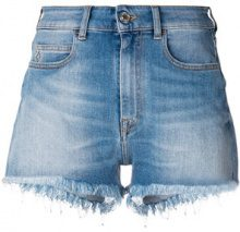 Marcelo Burlon County Of Milan - Shorts in denim - women - Cotton/Elastodiene/Polyester/Spandex/Elastane - 28, 29, 25, 26, 27 - BLUE