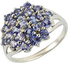 Ivy Gems-Pendente in argento Sterling 925, con Tanzanite e diamanti, Misura: 23