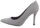 Sopily - Scarpe da Moda scarpe decollete Stiletto alla caviglia donna Lines Tacco Stiletto tacco alto 9 CM - Nero