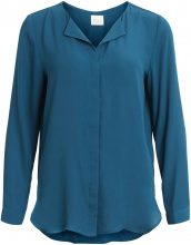 VILA Long Sleeves Shirt Women Blue