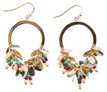 PIECES Big Pearl Earrings Women Gold
