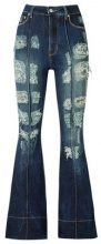 - Amapô - distressed high waist flared jeans - women - Elastodiene/Cotone - 42, 34, 44, 36, 38, 40 - Blu