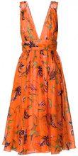 Fausto Puglisi - Vestito con stampa floreale - women - Silk/Cupro - 40, 42 - Giallo & arancio