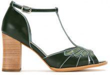 - Sarah Chofakian - panelled pumps - women - pelle di capra - 35, 37, 36 - GREEN