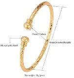 Vero oro 18 k,-Bracciale metallo placcato platino, ottima idea regalo per uomo o donna