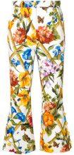 Dolce & Gabbana - Pantaloni crop svasati - women - Cotton/Spandex/Elastane - 38, 42, 44, 40 - WHITE