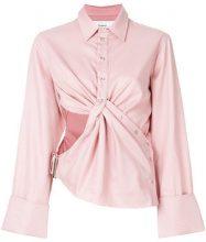 Marques'almeida - Camicia drappeggiata - women - Cotton - M, XS, S - PINK & PURPLE
