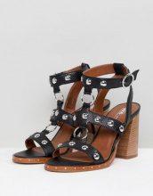 ASOS DESIGN - Tiffany - Sandali in pelle con tacco - Nero