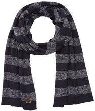 Tom Tailor striped scarf, Sciarpa Uomo, Blu (knitted navy), Taglia unica (Taglia Produttore: OneSize)