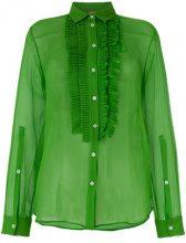 Nº21 - Camicia trasparente - women - Silk/Acetate - 42, 44 - GREEN