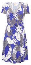 ESPRIT 028ee1e021, Vestito Donna, Multicolore (Bright Blue 410), Large