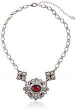 1928Jewelry–Siam cristallo rosso Accent con rosso sfaccettato collana 40,6cm, lunghezza 40–48cm