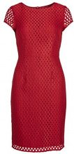 APART Fashion Kleid, Vestito Donna, Rot (Cranberry 0), 36