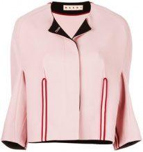 Marni - collarless structured jacket - women - Cotton/Wool - 40, 42, 38, 44, 46 - PINK & PURPLE