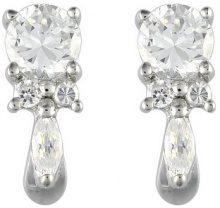 Ivy Gems-Pendente in argento Sterling, con Zirconia cubica e orecchini pendenti, con taglio Fancy, lunghezza 1,8 cm
