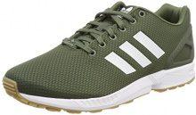 adidas ZX Flux, Scarpe da Fitness Uomo, Verde (Verbas/Ftwbla/Gum3 000), 47 1/3 EU