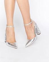 ASOS - PLAYGROUND - Scarpe a punta decorate con tacco alto