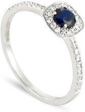 Tous mes bijoux Donna  18 carati  Oro bianco    G blu Zaffiro Diamante FINERING, Oro bianco, 8, cod. BADM07103-0001