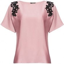 FIND Lace Trim Shoulder Camicia Donna, Rosa (Old Rose), 40 (Taglia Produttore: X-Small)