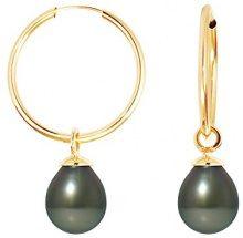 Pearls Colors &, a cerchio, in oro giallo 9 kt, con perla coltivata di Tahiti, 9BOT SB8J AM-131