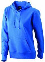 James & Nicholson Sweatshirt Hooded, Felpa Donna, Blu (Royal), Small