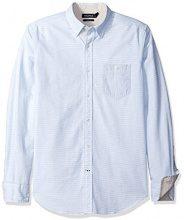 Nautica Oxford Slim Fit, Camicia Uomo, Ultramarine, Small