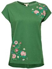 ESPRIT 038ee1k011, T-Shirt Donna, Verde (Dark Green 300), Medium