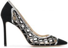 Jimmy Choo - crystal cage Romy 100 pumps - women - Goat Skin/Calf Leather/Leather - 36, 37, 37,5, 38, 38,5, 39, 39,5, 40 - BLACK