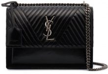 Saint Laurent - Borsa 'Sunset Monogram' - women - Leather - OS - BLACK