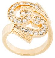 Versace - Anello 'Baroque' decorato - women - metal/Crystal - 15, 17 - METALLIC