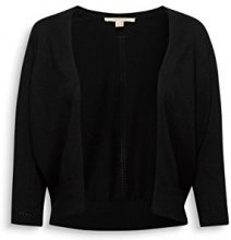 ESPRIT 018ee1i017, Cardigan Donna, Nero (Black 001), Large