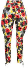 Chanel Vintage - floral tailored trousers - women - Cotton - 38 - MULTICOLOUR