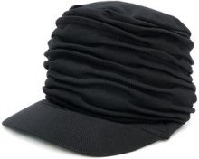 Yohji Yamamoto - Cappello increspato - women - Cotton/Polyester - OS - BLACK