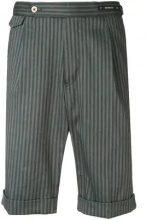 Pt01 - Bermuda a righe - men - Cotton/Linen/Flax/Spandex/Elastane - 46, 48, 54 - BLUE