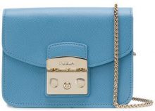 Furla - mini Metropolis cross body bag - women - Calf Leather - One Size - BLUE