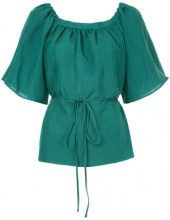 Cityshop - Blusa con cordoncino - women - Linen/Flax/Rayon - OS - GREEN
