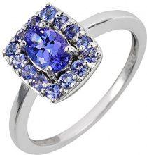 Ivy Gems Donna 925 argento Ovale blu Tanzanite