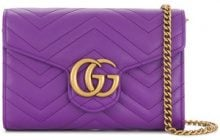 Gucci - GG Marmont mini bag - women - Calf Leather - OS - Rosa & viola