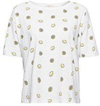ESPRIT 058ee1k037, T-Shirt Donna, Multicolore (Off White 110), Large