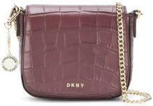 DKNY - Croc embossed shoulder bag - women - Leather/Polyester/Polyurethane - OS - BROWN