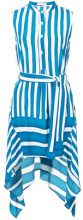 Tome - striped dress - women - Silk - L - BLUE