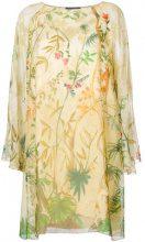 Alberta Ferretti - floral print dress - women - Silk/Spandex/Elastane/Acetate - 42, 40, 44, 46 - NUDE & NEUTRALS