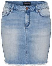 ONLY Raw Denim Skirt Women Blue