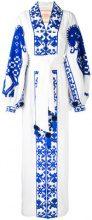 Yuliya Magdych - Abito 'Herd' - women - Linen/Flax - S, M - Bianco