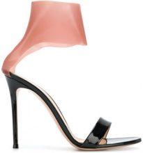 Gianvito Rossi - Sandali bicolore - women - Leather/Nappa Leather/rubber - 35, 36, 36.5, 37, 38, 39, 41 - BLACK