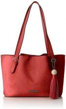 Tamaris Natalie Shoulder Bag - Borse a spalla Donna, Rot (Coral Comb.), 10x23x34 cm (B x H T)