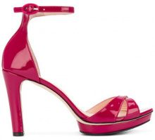 Repetto - ankle strap platform sandals - women - Leather/Patent Leather/rubber - 36, 37, 37.5, 38, 38.5, 39 - PINK & PURPLE