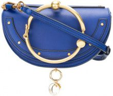 Chloé - Clutch con manico ad anello - women - Calf Leather - One Size - Blu
