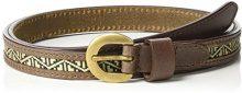 Cortefiel 6907849_10, Cintura Pelle Donna, Marrone, 90 cm (M)