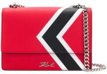 Karl Lagerfeld - Borsa a tracolla 'K/stripes' - women - Leather - One Size - RED